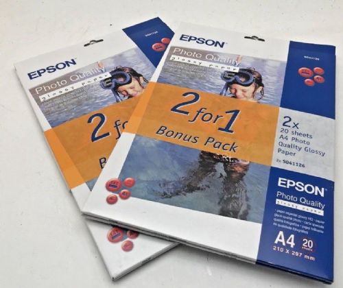 Epson A4 glossy photo quality inkjet paper